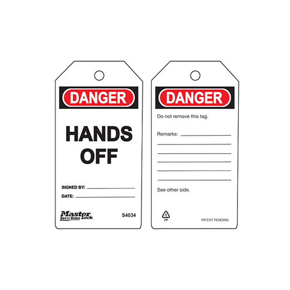 MasterLock S4034 PVC Uyarı Etiketi