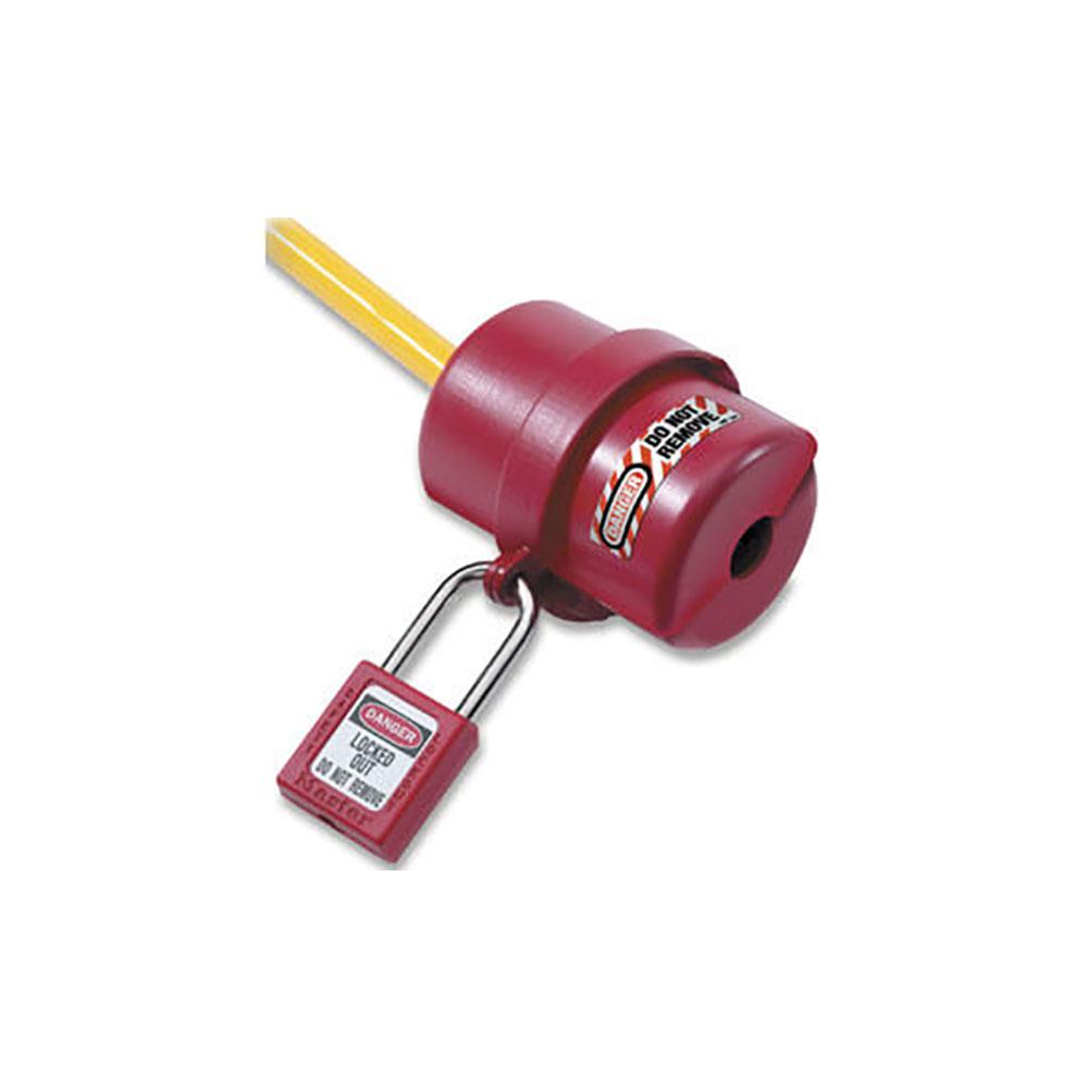 MasterLock 487 2 Fazlı Küçük Boy Elektrik Fişi Kilitleme Aparatı